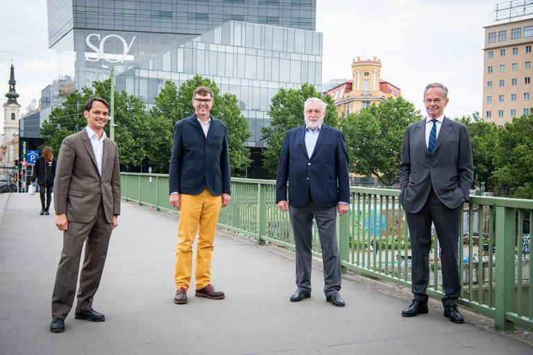 (from left): Wutscher, Narval, Fischler, Treichl.<small>© Europäisches Forum Alpbach/LUIZA PUIU</small>