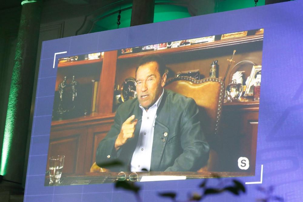 Arnold Schwarzenegger at the Austrian World Summit 2020<small>© Bundeskanzleramt (BKA) / Dragan Tatic</small>