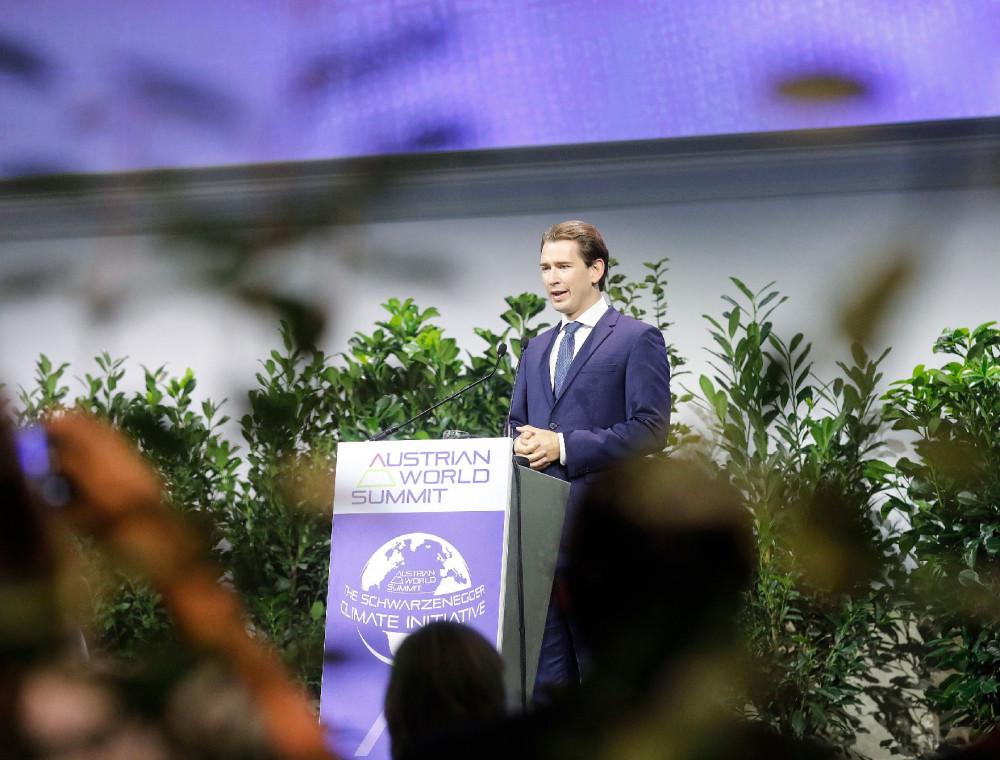 Chancellor Kurz at the Austrian World Summit 2020<small>© Bundeskanzleramt (BKA) / Dragan Tatic</small>