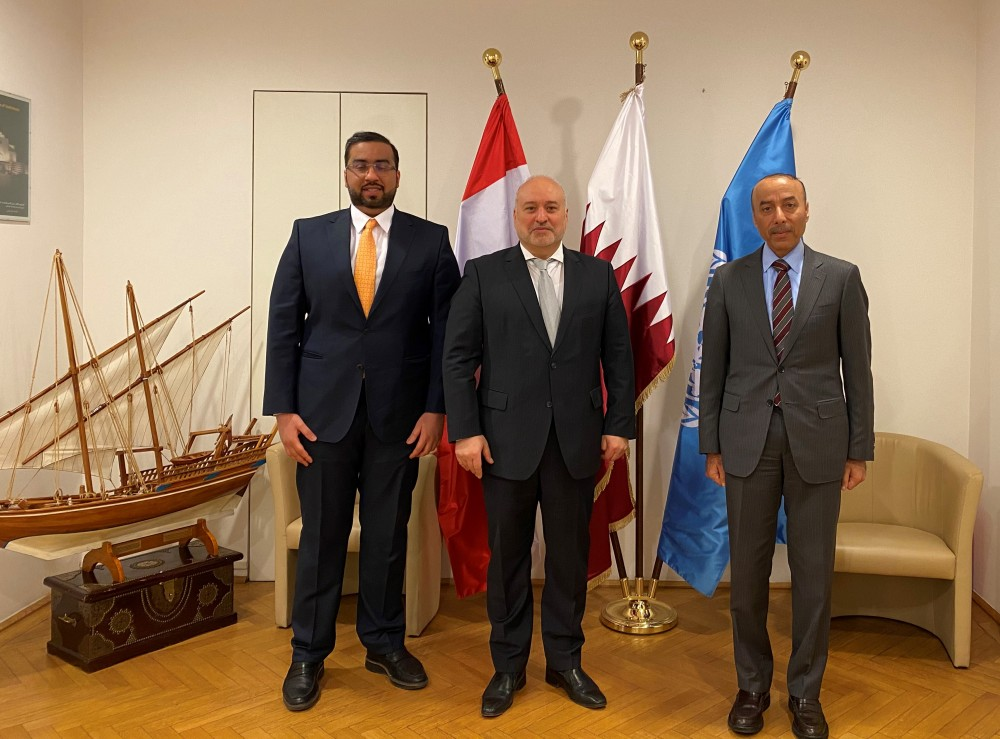 From left:  Ahmad Al-Haj, Mouddar Khouja, Salmeen Almansouri.<small>© Austro-Arab Chamber of Commerce (AACC)</small>