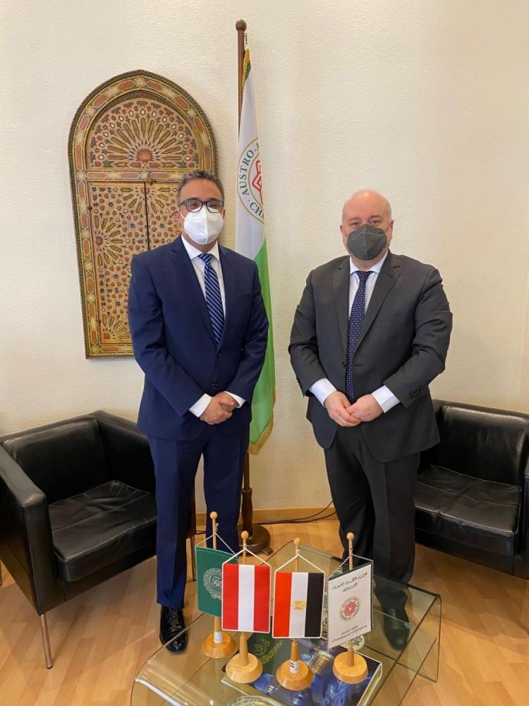 From left:  Mohamed Hamdy Elmolla, Eng. Mouddar Khouja.<small>© Austro-Arab Chamber of Commerce (AACC)</small>