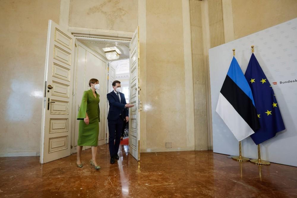 Estonian President Kaljulaid and Austrian Chancellor Kurz.<small>© Bundeskanzleramt (BKA) / Dragan Tatic</small>