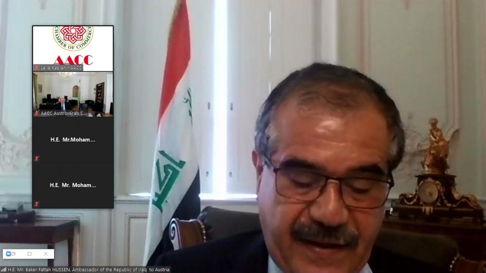 Ambassador of Iraq to Austria, Mr. Baker Fattah H. Hussen<small>© Austro-Arab Chamber of Commerce (AACC)</small>