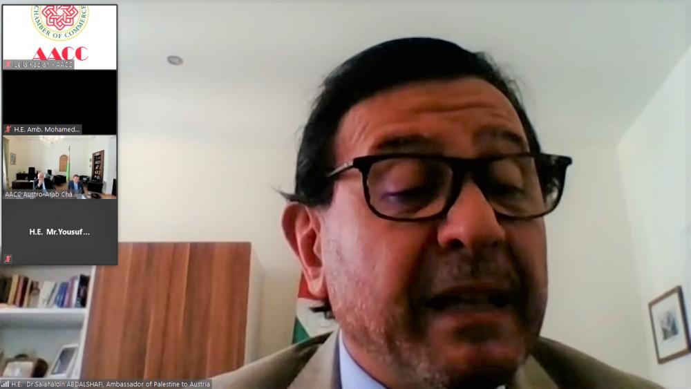 Ambassador of Palestine to Austria, Dr. Salahaldin Abdalshafi<small>© Austro-Arab Chamber of Commerce (AACC)</small>