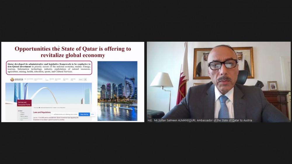 Ambassador of Qatar to Austria, Mr. Sultan Salmeen Al-Mansouri<small>© Austro-Arab Chamber of Commerce (AACC)</small>