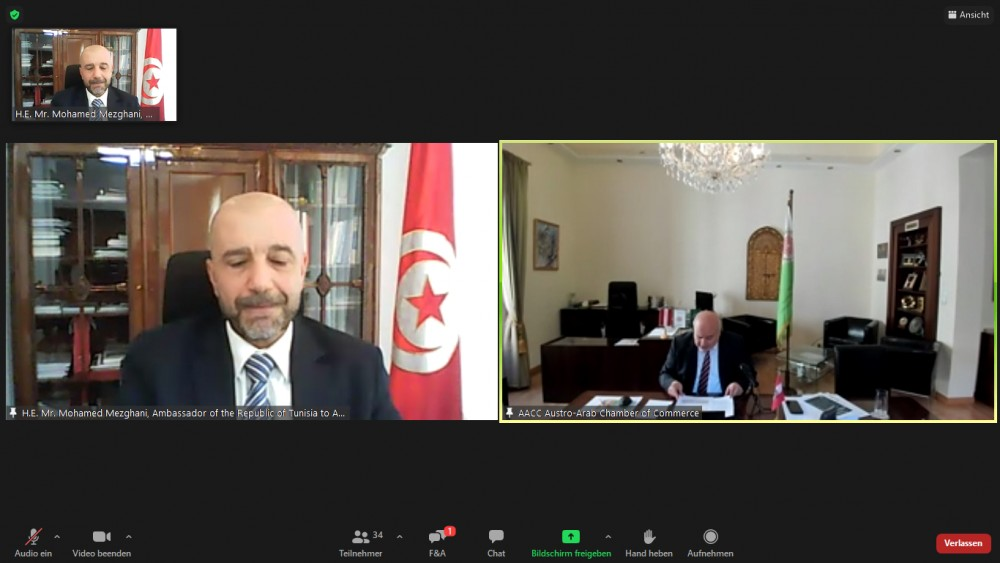 Ambassador of Tunisia to Austria, Mr. Mohamed Mezghani<small>© Austro-Arab Chamber of Commerce (AACC)</small>
