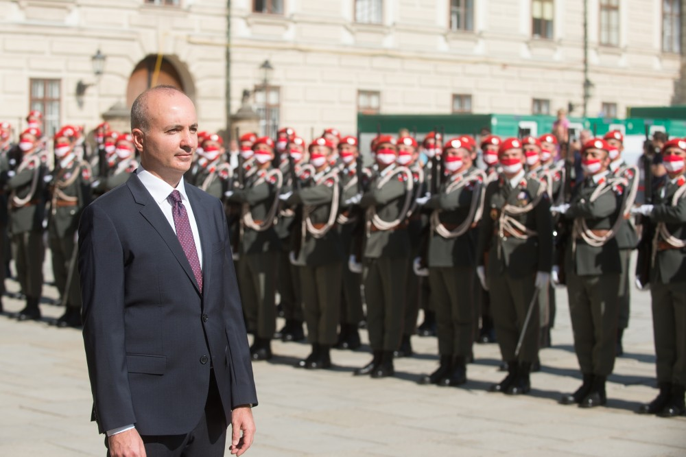 Ambassador of Azerbaijan to Austria Rovshan Sadigbayli<small>© www.bundespraesident.at / Peter Lechner / HBF</small>