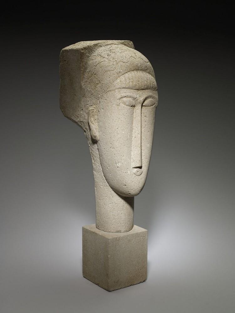 Amedeo Modigliani: Head, 1911/12<small>© Mpls. Inst. of Art / Mr. & Mrs. John Cowles / Bridgeman Images</small>