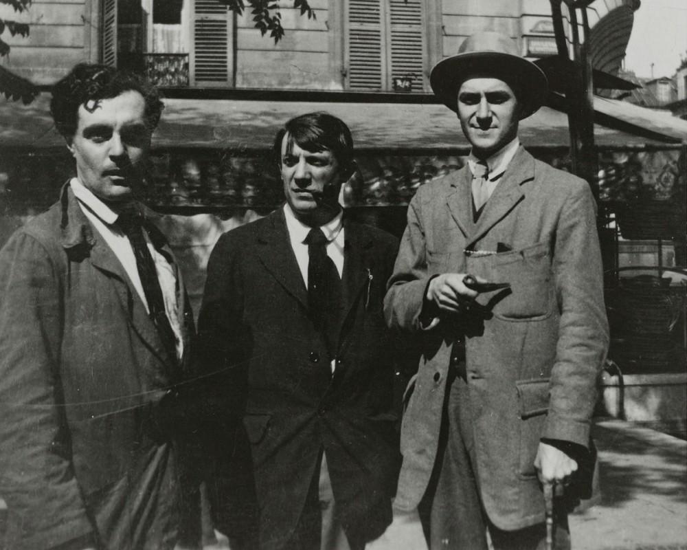 Amedeo Modigliani, Pablo Picasso, André Salmon, 12.8.1916<small>© Bildrecht, Vienna 2021</small>