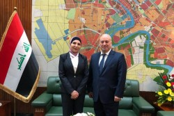AACC Secretary General Mouddar Khouja meets H.E. Dr. Zekra Alwach, Mayor of Baghdad (left).<small>© Austro-Arab Chamber of Commerce (AACC)</small>