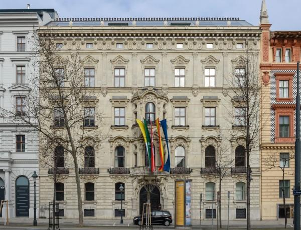The KAICIID - King Abdullah bin Abdulaziz International Centre for Interreligious and Intercultural Dialogue at Schottenring 21, 1010 Vienna.<small>© Wikimedia Commons / Thomas Ledl [CC BY-SA 3.0]</small>