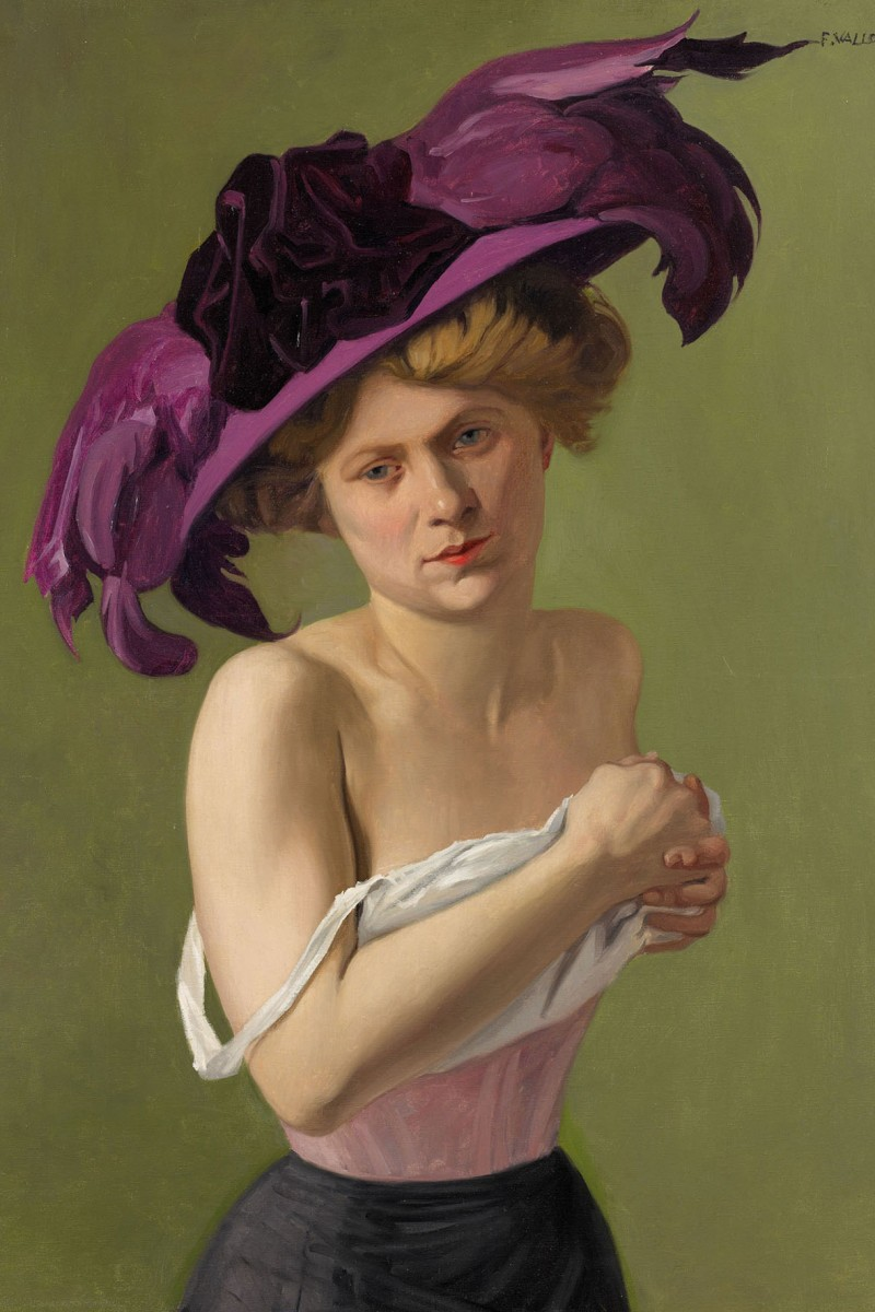 Félix Vallotton: The Violet Hat, 1907 (Oil on canvas, Permanent loan to Hahnloser/Jaeggli Foundation)<small>© Albertina, Vienna / Reto Pedrini, Zürich</small>