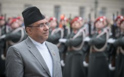 New Federal Democratic Republic of Nepal Ambassador to Austria Prakash Kumar Suvedi presenting Letter of Credence to Austrian Federal President Alexander Van der Bellen at the Imperial Palace in Vienna<small>&copy www.bundespraesident.at / Peter Lechner / HBF</small>