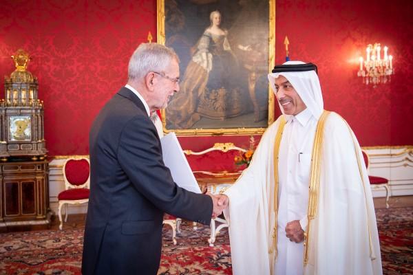 Ambassador of Qatar to Austria: H.E. Sultan Salmeen Al-Mansouri<small>© www.bundespraesident.at / Carina Karlovits and Peter Lechner / HBF</small>