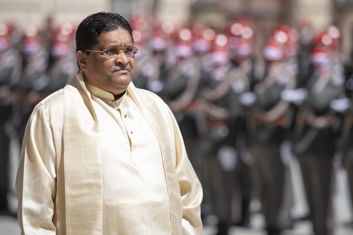 Ambassador of Sri Lanka to Austria, H.E. Mr. Majintha Jayesinghe.<small>© www.bundespraesident.at / Peter Lechner and Harald Minich / HBF</small>