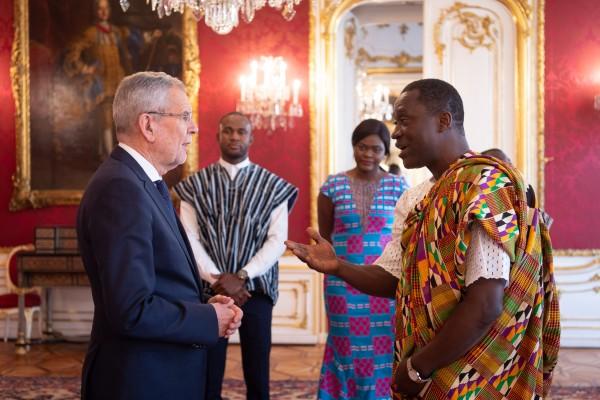 Ambassador of the Republic of Ghana to Austria: H.E. Mr. Ramses Joseph Cleland<small>© www.bundespraesident.at / Carina Karlovits and Daniel Trippolt/HBF</small>