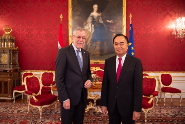 Ambassador of the Lao People's Democratic Republic to Austria: H.E. Mr. Sithong Chitnhothinh<small>© www.bundespraesident.at / Carina Karlovits and Daniel Trippolt/HBF</small>