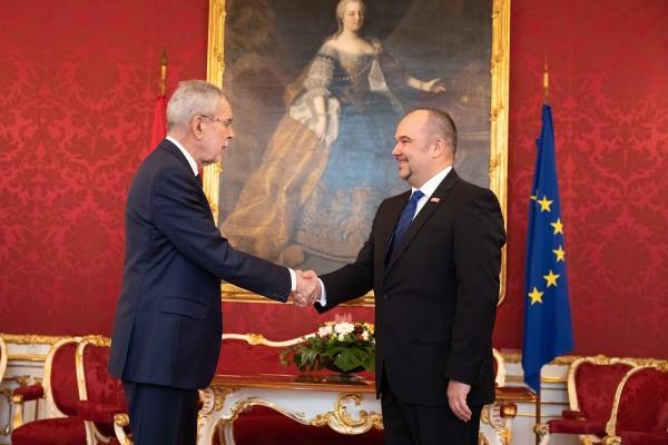 Ambassador of the Republic of Croatia, H.E. Mr. Daniel Glunčić.<small>© www.bundespraesident.at / Laura Heinschink and Peter Lechner / HBF</small>