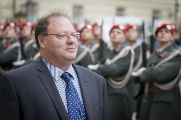 Ambassador of Israel to Austria, H.E. Mr. Mordechai Denis Paul Rodgold.<small>© www.bundespraesident.at / Carina Karlovits and Clemens Schwarz / HBF</small>