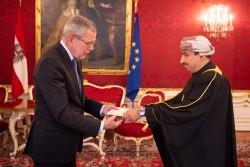 Ambassador of the Sultanate of Oman to Austria: H.E. Mr. Yousuf Ahmed Hamed Aljabri<small>© www.bundespraesident.at / Carina Karlovits and Daniel Trippolt/HBF</small>