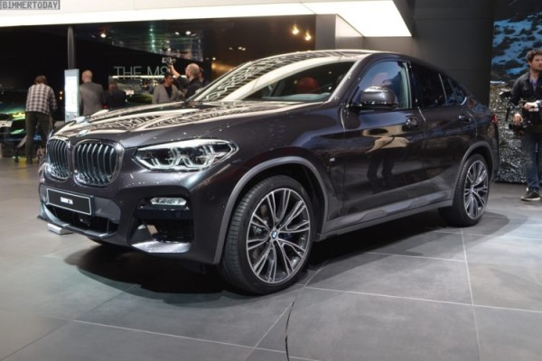The new BMW X4 G02 xDrive30i with Sophistograu Interieur as introduced at the 2018 Geneva Motor Show<small>© BMW AG</small>