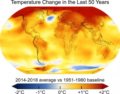"""Young Scientist Symposium 2020: """"The climate is changing – what can we do?""""<small>© Wikimedia Commons / NASA's Scientific Visualization Studio, Key and Title by Eric Fisk [Public Domain]</small>"""