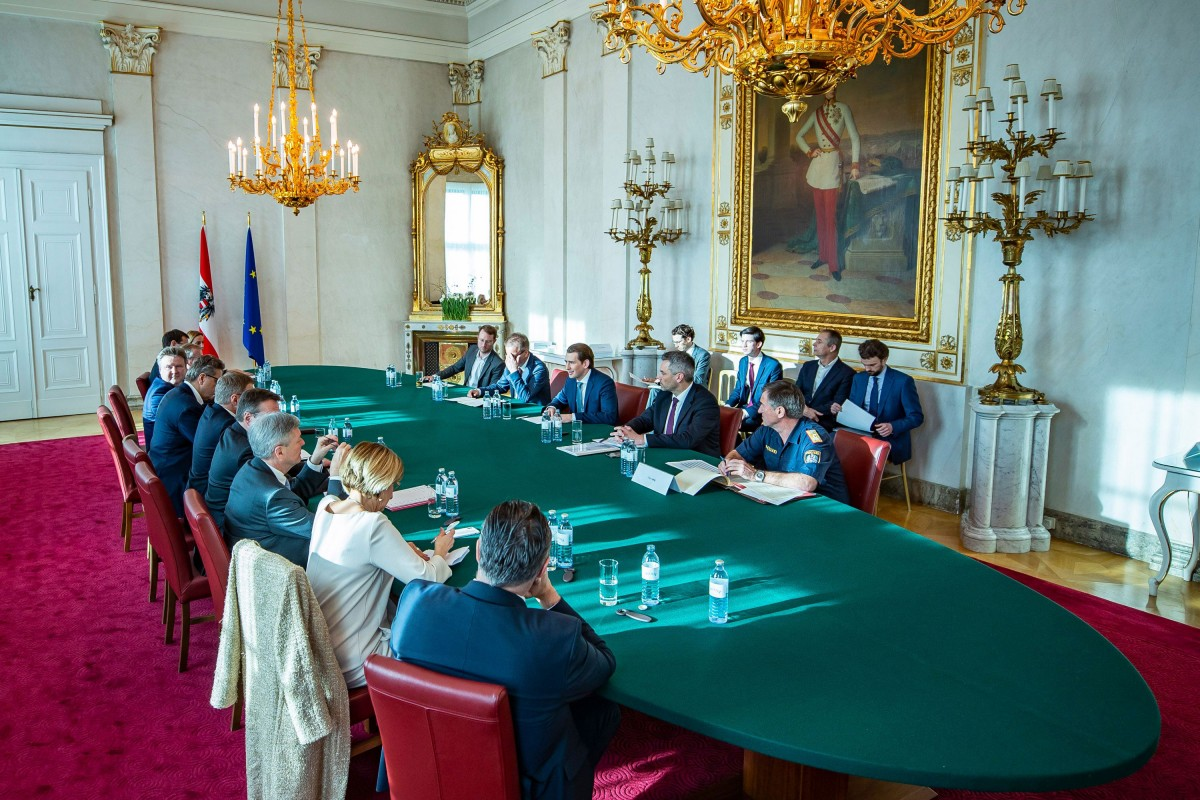 Coronavirus Summit in the Federal Chancellery<small>© Bundeskanzleramt (BKA) / Arno Melicharek (cropped)</small>