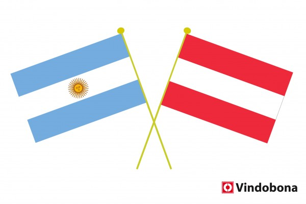 Secretary General of the Foreign Ministry Johannes Peterlik signed the agreement in Buenos Aires.<small>© Argentine and Austrian crossed flags by Vindobona</small>