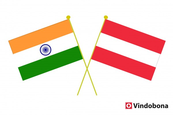 Gandhi Jayanti: Celebration of 150th Birth Anniversary of Mahatma Gandhi in Vienna.<small>© Indian and Austrian crossed flags by Vindobona</small>