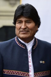 Evo Morales in Vienna to Present Bolivia's Anti-Drug Policy<small>© Wikimedia Commons / Ministerio de Relaciones Exteriores from Perú [CC BY-SA 2.0 (https://creativecommons.org/licenses/by-sa/2.0)]</small>