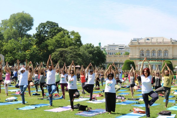 The United Nations General Assembly declared 21st June as the International Day of Yoga. The International Day of Yoga 2019 takes place at Stadtpark Vienna.<small>© Embassy of India in Vienna</small>