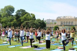 The United Nations General Assembly declared 21st June as the International Day of Yoga. The International Day of Yoga 2019 takes place at Stadtpark Vienna.<small>&copy Embassy of India in Vienna</small>