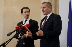 Chancellor Kurz and Defense Minister Kunasek: &quot;Espionage is unacceptable and condemnable. We demand transparent information from the Russian side&quot;.<small>&copy Bundeskanzleramt (BKA) / Dragan Tatic</small>
