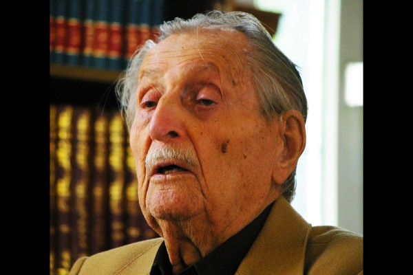 Marko Feingold died in Salzburg on 19 September 2019 at the age of 106.<small>© Wikimedia Commons / Werner100359 [CC BY-SA 4.0 (https://creativecommons.org/licenses/by-sa/4.0)]</small>