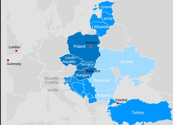 Middle europe investments romania map 20% return on investment