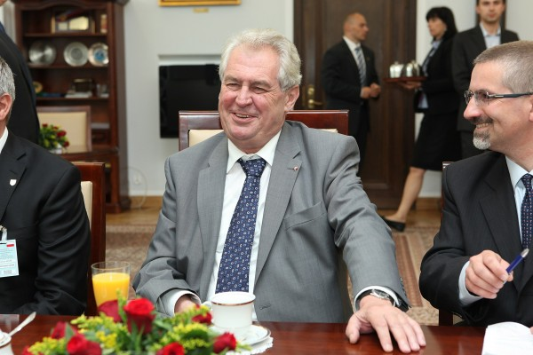 Since March 8th, 2013 Miloš Zeman (74) is President of the Czech Republic.<small>© Wikimedia Commons / The Chancellery of the Senate of the Republic of Poland  [CC BY-SA 3.0 pl (https://creativecommons.org/licenses/by-sa/3.0/pl/deed.en)]</small>