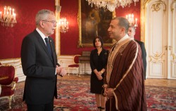 New Ambassador of the Republic of Tunisia to Austria Mohamed Mezghani presenting Letter of Credence to Austrian Federal President Alexander Van der Bellen at the Imperial Palace in Vienna<small>© www.bundespraesident.at / Carina Karlovits / HBF</small>