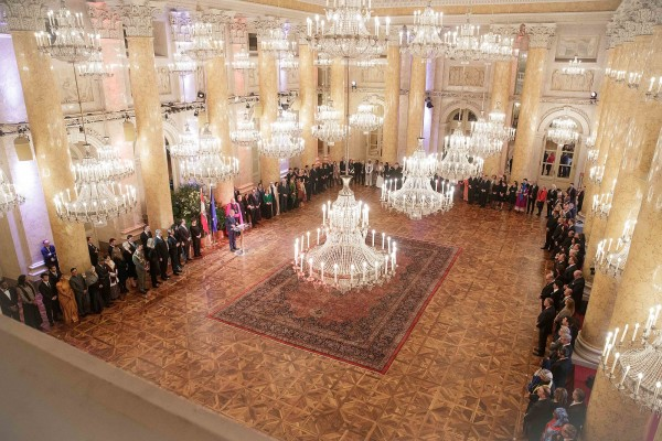 New Year Reception for the Diplomatic Corps in Vienna 2020 at the Hofburg Imperial Palace Vienna.<small>© www.bundespraesident.at / Carina Karlovits and Peter Lechner / HBF</small>