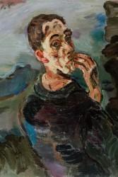 Oskar Kokoschka, Self-Portrait, One Hand touching the Face, 1918/1919<small>&copy Leopold Museum, Vienna, Inv. 623, (c) Fondation Oskar Kokoschka, VBK, Vienna 2011</small>