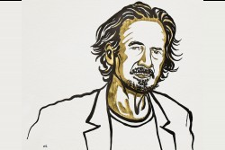The Nobel Prize in Literature for 2019 is awarded to the Austrian author Peter Handke &quot;for an influential work that with linguistic ingenuity has explored the periphery and the specificity of human experience&quot;.<small>© Nobel Media 2019. Illustration: Niklas Elmehed</small>