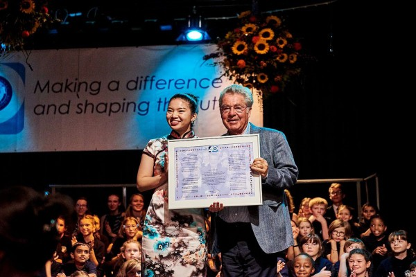 Vienna International School turned 40 in 2018. Former President Fischer praises role for international understanding.<small>© VIS Vienna International School</small>
