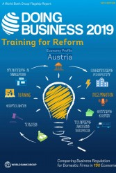 World Bank's Ease of Doing Business Index 2019: Austria falls from 22nd to 26th place.<small>&copy The World Bank Group</small>