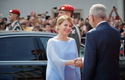 Van der Bellen praised Čaputová for her commitment to climate protection. At the same time he expressed Austria's &quot;great concern&quot; about the controversial expansion of the Mochovce nuclear power plant.<small>© www.bundespraesident.at / Carina Karlovits and Peter Lechner / HBF</small>
